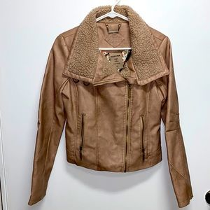 Women's faux leather Jou jou jacket size small